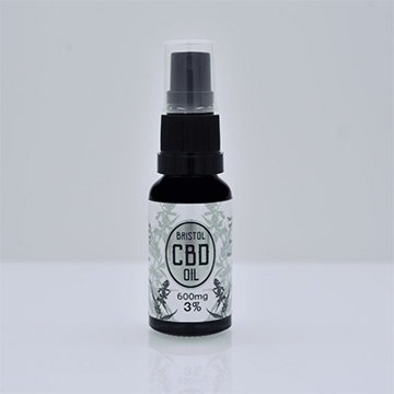 600mg Organic Whole Plant CBD Oil in 20ml spray bottle. CBD is 3% of net weight