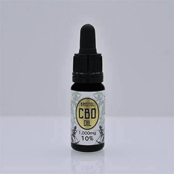 1000mg Organic CBD Oil (Gold) in 10ml dropper bottle. CBD is 10% of net weight.