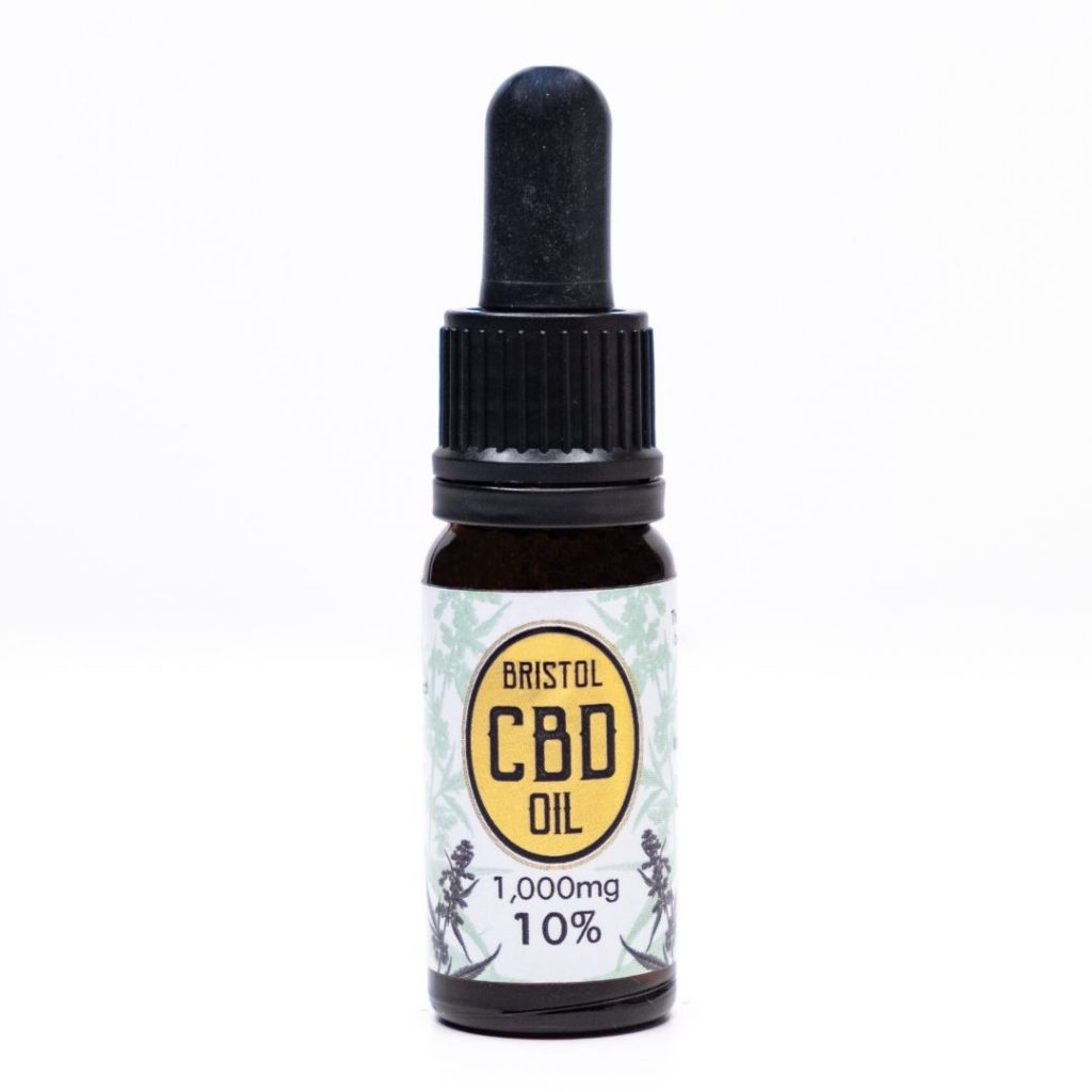 1000mg 10% Gold Bristol CBD Oil, Front