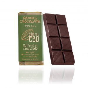Organic CBD Chocolate Bar (240mg of CBD oil in 30g bar)