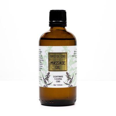 Bristol CBD Massage Oil - Front