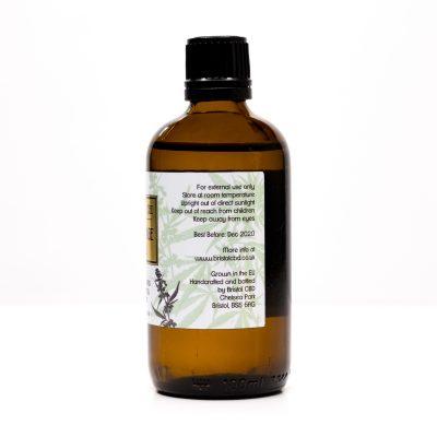Bristol CBD Massage Oil, Side 2