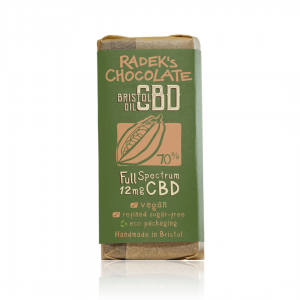 Organic CBD Chocolate Bar (12mg of CBD in 30g bar)