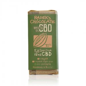 Organic CBD Chocolate Bar (12mg of CBD in 30g bar)